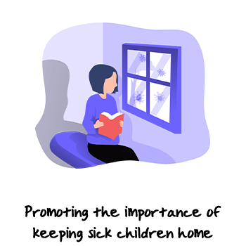 A child reading book by the window